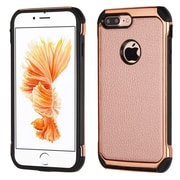 Insten 2-Layer Hybrid Rubber Hard Plastic Chrome Case For iPhone 7 Plus - Rose Gold/Black