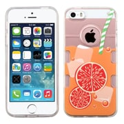 Insten Orange Soda Gel Cover Case For Apple iPhone SE / 5/ 5S - Clear/Orange
