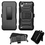 Insten Hard Hybrid Plastic Silicone Case w/Holster For HTC Desire 530 - Black