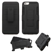Insten Car Armor Hard Dual Layer Plastic Silicone Case w/Holster For Apple iPhone 6 Plus/6s Plus - Black