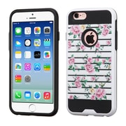Insten Fresh Roses Hard Hybrid Silicone Cover Case For Apple iPhone 6 / 6s - Pink/White