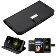 Insten Folio Wallet Case for LG G5 - Black - PU Leather - ID Credit Card Slot - Kickstand Cover - Ultra Slim Design
