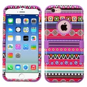 Insten Tuff Tribal Fashion Hard Dual Layer Rubber Coated Silicone Case For Apple iPhone 6/6s - Hot Pink/Purple