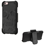 Insten Hard Rubber Cover Case w/stand/Holster For Apple iPhone 6 / 6s - Blue/Black