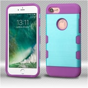 Insten Metallic Baby Blue/Purple Brushed TUFF Trooper Hybrid Dual Layer Case Cover for Apple iPhone 7