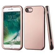 Insten Rose Gold/Black Hybrid Dual Layer Case Cover for Apple iPhone 7