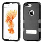Insten Black/Iron Gray TUFF Hybrid Dual Layer Phone Stand Case Cover for Apple iPhone 7 Plus