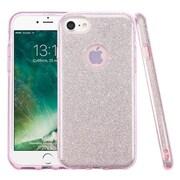 Insten Bling Glitter Hybrid Hard Plastic / Soft Flexible Rubber Case For iPhone 7 - Pink