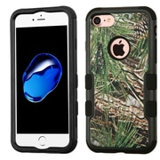 Insten Tuff Pine Tree Hard Dual Layer Rubberized Silicone Cover Case For Apple iPhone 7 - Green/Black