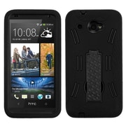 Insten Symbiosis Skin Hybrid Rugged Shockproof Rubber Hard Case with Stand For HTC Desire Zara - Black