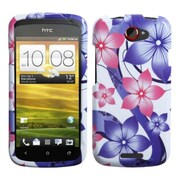 Insten Pink Hibiscus Flower Romance Phone Case for HTC: One S