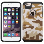 Insten Camouflage Hard Dual Layer Rubberized Silicone Cover Case For Apple iPhone 6 Plus/6s Plus - Brown/Black