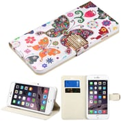 Insten Butterfly Wonderland Flip Leather Case w/stand/card slot For Apple iPhone 6s Plus / 6 Plus - Colorful