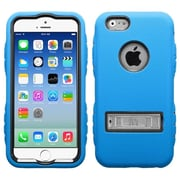 Insten Black/Dark Blue TUFF Hybrid Rugged Shockproof Silicone Hard Metal Stand Case for iPhone 6S 6 4.7""