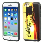 Insten California Love Sunset Hard Hybrid Rubberized Silicone Case w/card slot For Apple iPhone 6/6s - Yellow