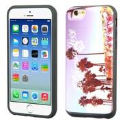 Insten California Love Venice Hard Dual Layer Silicone Cover Case w/card slot For Apple iPhone 6/6s - Purple