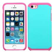 Insten Hard Hybrid Rugged Shockproof Rubber Silicone Case For Apple iPhone SE 5S 5 - Teal/Hot Pink