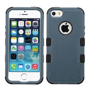 Insten Tuff Hard Hybrid Silicone Cover Case For Apple iPhone SE 5S 5 - Dark Blue/Black