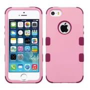 Insten Tuff Hard Hybrid Rubber Silicone Case For Apple iPhone SE 5S 5 - Pink