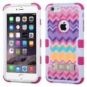 Insten Hard Hybrid Shockproof Rubber Coated Silicone Case with Stand For iPhone 6 Plus / 6s Plus - Colorful