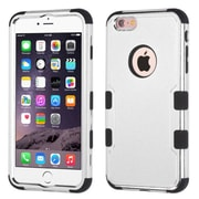 """Insten 3-Layer Hybrid Electroplating Cover Case for iPhone 6s Plus / 6 Plus 5.5"""" - Silver/Black"""