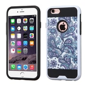 Insten European Flowers Hard Hybrid Rubberized Silicone Case For Apple iPhone 6s Plus / 6 Plus - Purple/White