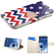 Insten Stars-wave PU Leather Flip Wallet Case With Bling Belt For Samsung Galaxy S3 i9300
