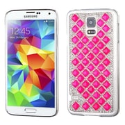 Insten Bling Crystal Rhinestone Diamond Slim Hard Case Cover for Samsung Galaxy S5 , Hot Pink