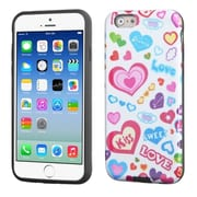 Insten Love Glittering/Black Advanced Armor Hard Case for Apple iPhone 6 6S 4.7""