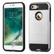 Insten Dual Layer Soft TPU Hard Plastic Ultra Slim Case For iPhone 7 - Silver/Black