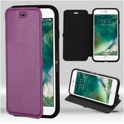 Insten Purple Wallet Leather Flip Case (with Black/Black Tray) for Apple iPhone 7 4.7""