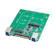IOCrest USB 3.1 Dual Type-B + SATA 7+15 pin Connector to M.2 NGFF SSD / mSATA SSD Adapter
