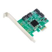 IOCrest PCIe 1 Interface 4-Port Internal SATA Controller Card 88SE9215 Chipset