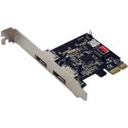 Syba PCIe 2x e-SATA Ports Controller Card SIL3132 Chipset Plug and Play
