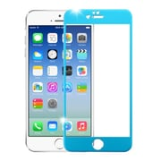 Insten 3D Curved TItanIum Alloy Full Coverage Tempered Glass Screen Protector For IPhone 6/6s, Blue