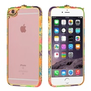 Insten Hard Rubberized Bumper Case with Diamond For iPhone 6s Plus / 6 Plus - Colorful