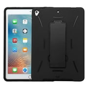 "Insten Symbiosis Skin Hybrid Rubber Hard Case w/stand For Apple iPad Pro (9.7"") - Black"