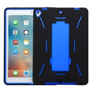 "Insten Symbiosis Skin Hybrid Rubber Hard Case w/stand For Apple iPad Pro (9.7"") - Black/Blue"