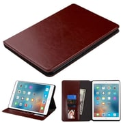 "Insten Book-Style Leather Fabric Cover Case w/stand/card holder/Photo Display For Apple iPad Pro (9.7"") - Brown"
