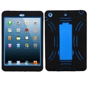 Insten Symbiosis Rubber Hybrid Hard Case w/stand For Apple iPad Mini 1 - Black/Blue