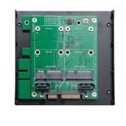 """Syba 3.5"""" SATA 7+15 pin Connector to Dual 7-pin SATA6G + Dual mSATA RAID Adapter"""