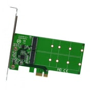 IOCrest PCI-Express 2.0 x1/x2/x4/x8/x16, 2-Port M.2 NGFF Card, with Key B or Key B+M based on SATA, Low Profile Bracket