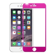 Insten 3D Curved TItanIum Alloy Full Coverage Tempered Glass Screen Protector For IPhone 6 Plus/6s Plus, Hot PInk