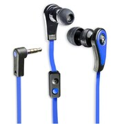 Connectland Stereo In-Ear Headset with Mic+Adapter For Smartphone PC Audio Blue