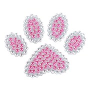 "Insten Paw Pink Diamante Bling Crystal Decoration Sticker 4"" x 3"""