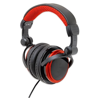 Connectland Foldable Slim Design MP3 Gaming Stereo Headset Headphone Black/Red 2593450