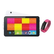 "Supersonic® SC6207FIT 7"" Tablet with Fitness Band, 512MB RAM, Android 4.4, Pink"