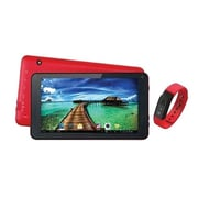 "Supersonic® SC6207FIT 7"" Tablet with Fitness Band, 512MB RAM, Android 4.4, Red"