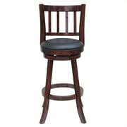"Boraam Bloomington 24"" Counter Stool, Cherry (60924)"