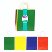 Flomo- Euro-Size Gift Bags, PRIMARY COLOR ASSORTMENT, 100/Pack, (KFV738-10R)